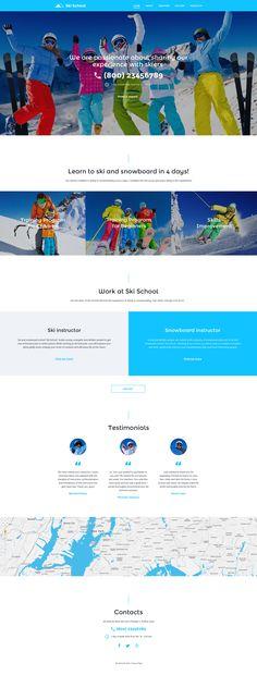 Ski School Website Template - https://www.templatemonster.com/website-templates/57787.html