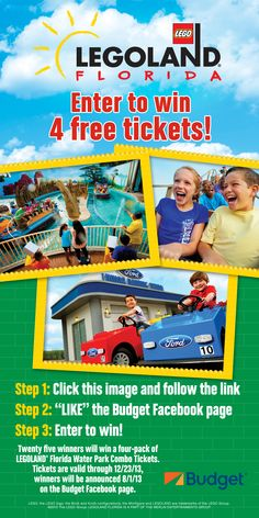 Win tickets to LEGOLAND Florida from our rental car partner, Budget!