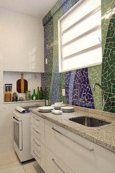 mosaico na parede Apartamentos pequenos: 320 projetos de profissionais de CasaPRO - Casa