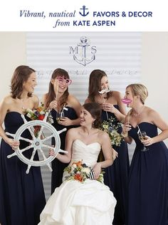 navy wedding theme
