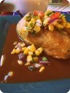 Cheese Stuffed Chiles Rellenos With Corn Salsa - Hispanic Kitchen