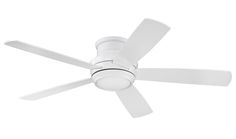 """Tempo 52"""" Hugger Ceiling Fan with Blades and LED Light Kit in White"""