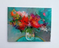 Still Life Painting Abstract Painting by kerriblackmanfineart, $65.00