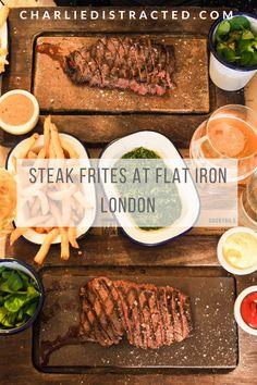 Steak Frites at Flat Iron, Denmark St, London
