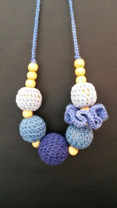 Blue nursing necklace