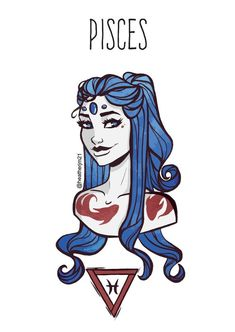Items similar to SALE! Pisces goddess postcard, Astrology, Star signs (First print run) on Etsy - astrologie Astrology Stars, Astrology Zodiac, Pisces Horoscope, Horoscope Capricorn, Capricorn Facts, Zodiac Cancer, Zodiac Taurus, Anime Zodiac, Zodiac Art