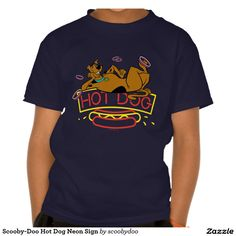 Scooby-Doo Hot Dog Neon Sign T-shirt. Regalos, Gifts. #camiseta #tshirt
