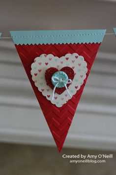 A Valentine Banner | Amy's Paper Crafts