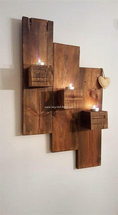 Pallet Wall Decor Pallet Furniture Designs, Wooden Pallet Projects, Wooden Pallets, Wooden Diy, Wood Furniture, Furniture Ideas, Pallet Ideas, Pallet Wood, Diy Projects