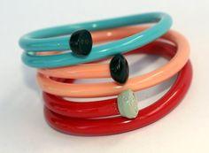 Upcycled Knitting Needle Bracelets Eco Friendly by sewnewthings, $32.00