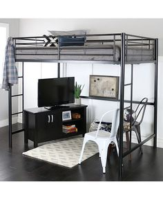 Loft bunk bed with desk. Stairs Full Size Black Metal Loft Bed Steampunksewingclub 11 Full Size Modern Loft Beds For Your Tiny Apartment Apartment Bunk Bed With Desk, Loft Bunk Beds, Modern Bunk Beds, Bunk Beds With Stairs, Modern Loft, Loft Bed Ikea, Queen Loft Beds, Cool Loft Beds, Bedroom Modern