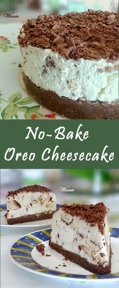 Easy, delicious No-Bake Cheesecake with . Oreo cookies or similar sandwich cookies. I used vanilla stuffed chocolate-sandwich cookies.