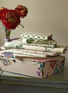 For this personalised stationery simple make, learn how to cover books and box files with fabric and wallpaper. Find more craft at countryliving.co.uk
