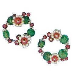 bde5516452e8 Cartier Paris  Tutti Frutti  Creole Earclips. Provenance  Princess Nina  Mdivani