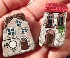 You are going to love these Painted Rock Fairy Houses and they are the cutest ideas ever. See how to make your own and watch the video tutorial too. #artsandcraftsgoogle,