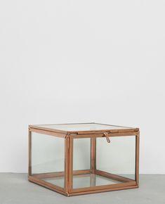 Boîte en verre et métal - Petit écrin pour accueillir vos bijoux et autres petits objets.
