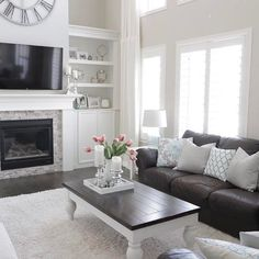dark brown sofa living room ideas get living room paint color ideas for your home find colour palette that speaks personality from our design gallery grey walls with brown sofa dark sofawood
