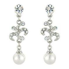 Small Pearl Drop Earrings - Costume Jewellery - Glitzy Secrets
