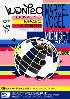 RA Tickets: Bowling, Magic & Disco with Marcel Vogel, Midnight Riot, Customs and More at Bloomsbury Bowling Lanes, London