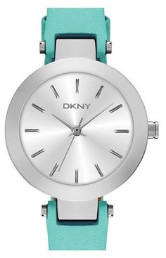 DKNY leather strap watch via @LuxeFinds. http://rstyle.me/n/wdeu2pdpe #DKNY #watches