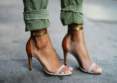 heels paired with cargo's. yes!