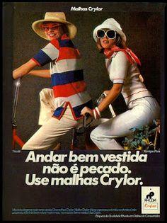 Anúncio malhas Crylor - 1976