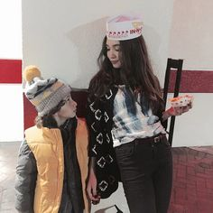 Rowan and August R adorable lol this was Rowans first trip to In-N-Out Burger