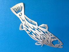 Metal gamefish sculpture.. Redfish diving.. Plasma cut aluminum... Really sweet sculpture..                                                                                                                                                      More