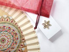 Abanico pintado a mano 'Mandala'. Exclusive por AbanicosdeMarina