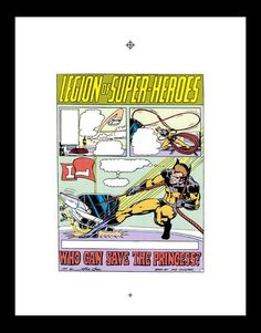 GREAT LEGION STORY AND ART!!  Mike Grell Superboy 209 RARE Production Art PG 1 | eBay
