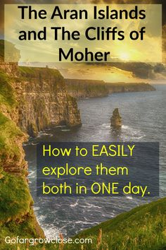 Aran Islands And The Cliffs of Moher: How To Easily Explore Them Both In One Day We spent one amazing day exploring the Aran Islands and the Cliffs of Moher and loved it. It was a beautiful relaxing day seeing a spectacularly beautiful part of Ireland. Backpacking Europe, Europe Travel Guide, Europe Europe, Europe Destinations, Bora Bora, Belfast, Belize, Bangkok, Cliffs Of Moher