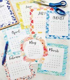 pretty free 2017 printable calendar