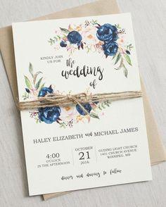 a1f775d15ba Spectacular    DIY Wedding Invitations  ). LEONOR AGUILAR MARIN · Bodas ·  Adornos Para Boda