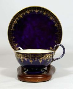 Sevres blue clouds cup