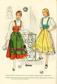 Lutterloh Dirndl Supplement 1950's pg. 22