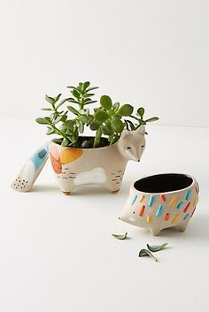 Woodland Animal Pot
