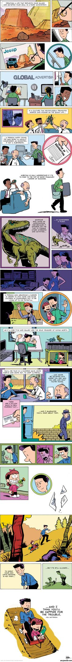 Illustrated Advice From Bill Watterson (Creator of Calvin and Hobbes)
