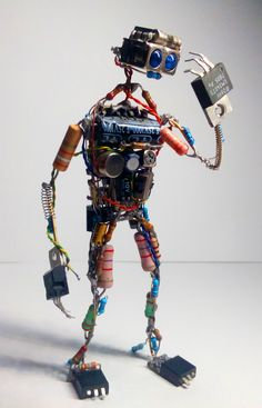 Electronic Components Art: 3 Steps The heritage - Mexican Metal Yard Art