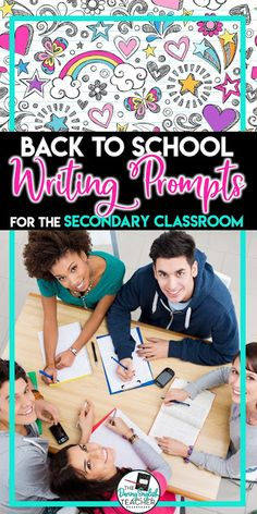 Back to School Writing Prompts for the Secondary Classroom. Writing prompts to use in the middle school and high school classroom during the first week of school. Middle School Ela, Middle School English, Back To School, School Stuff, High School Classroom, English Classroom, Ela Classroom, Secondary Teacher, First Year Teachers