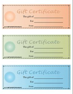 Printable Gift Vouchers Template Blank Gift Certificates Saving Money  For Gifts  Pinterest .