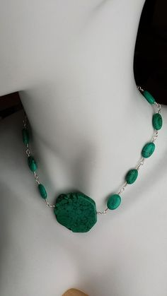 Turquoise pendent choker necklace, Turquoise pendent choker, Silver Wire and Turquoise, Turquoise Necklace, Pendant Choker by FisheyeDesign on Etsy