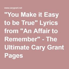 AN AFFAIR TO REMEMBER with lyrics - YouTube