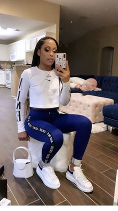 Look at more ideas about Style attire, Spoils outfits and Ladies design and style. Baddie Outfits Casual, Boujee Outfits, Swag Outfits For Girls, Cute Swag Outfits, Chill Outfits, Teenage Outfits, Teen Fashion Outfits, Dope Outfits, Pretty Outfits