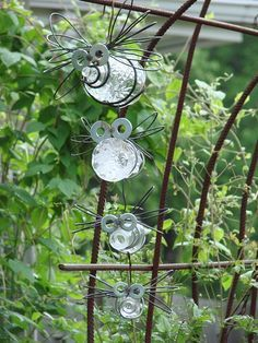 Glass bugs...cute and funny and very whimsical