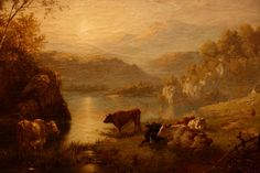 Beautiful, old, warm painting of the countryside <3
