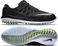 Golf Shoes 181136  2017 Nike Lunar Control Vapor Golf Shoes Mens Wide Black  Silver White f684176f2