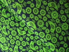 Could make some cute and warm trousers. Dutch baby corduroy bird and flower silhouette in limey lime WIDE