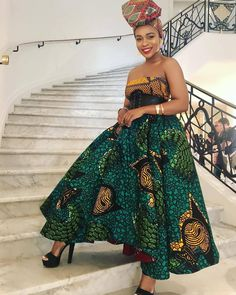 South African actress Nomzamo Mbatha shares stylish African print dresses and pantsuit ideas. Nomzamo's Ankara style outfits and beauty looks African Print Dresses, African Print Fashion, African Fashion Dresses, African Dress, African Prints, Nigerian Fashion, African Outfits, African Clothes, Ankara Fashion