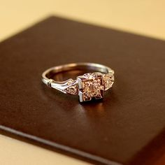 Oooo. Aurelia Diamond Vintage Engagement Ring circa 1950 by TurtleLoveCo, $830.00