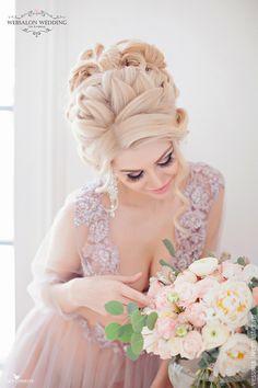 """Халаты ручной работы. Будуарное платье """"Smoky"""". VESSSNA WEDDING. Ярмарка Мастеров. Свадебное платье цветное, свадебное платье кружево"""